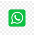 whatsapp social media icon design template vector image vector image