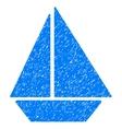 Yacht Grainy Texture Icon vector image
