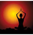 Yoga women figure vector image