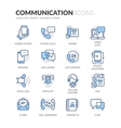 Line Communication Icons vector image