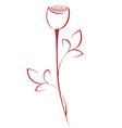 line rose vector image