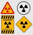 Radioactivity sign set - vector image
