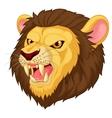 Angry lion head mascot cartoon vector image