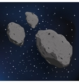 an asteroid and meteorite vector image