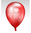 3d realistic red transparent balloon vector image vector image