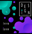 abstract fluid creative templates cards vector image