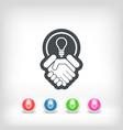 agree new idea icon vector image