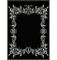 Antique silver frame with the decor vector image vector image