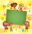 back to school template for advertising brochure vector image vector image