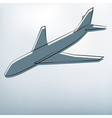 Background with airplane symbol vector image