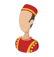 Bellboy cartoon icon vector image vector image