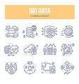 big data doodle icons vector image
