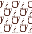 Brown hot coffee cups seamless pattern vector image vector image