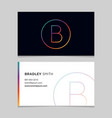 business-card-letter-b vector image vector image