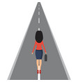 businesswoman on road in flat vector image vector image