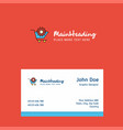 cart setting logo design with business card vector image vector image
