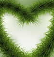 Christmas Background heart shaped wreath vector image vector image