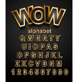 Christmas Golden Alphapet Font to use for vector image
