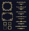 collection set ornament vector image vector image