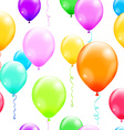 Colorful balloons seamless pattern vector image vector image