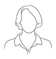 contour of a female head without a face vector image