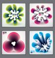 cool gradient shapes futuristic designs set 3d vector image vector image