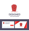 creative business card and logo template popcorn vector image
