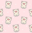 cute pig seamless pattern background vector image vector image