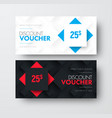 design of gift voucher with rhombuses on vector image vector image