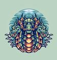 dragon hydra character mascot vector image vector image