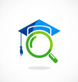 education search college university logo vector image vector image