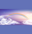 fantasy sky rainbow fairy skies rainbows colors vector image vector image