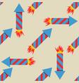 fireworks rocket seamless pattern vector image