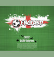 flag of england and football fans vector image vector image
