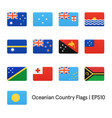flags of oceania icons set vector image