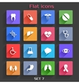 Flat Application Icons Set 7 vector image vector image