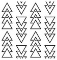 geometric triangle pattern hipster design vector image vector image