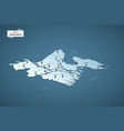 isometric 3d bangladesh map concept vector image