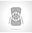 Knee protector flat line icon vector image vector image