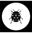 ladybug animal symbol simple black icon eps10 vector image vector image
