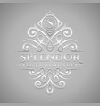 letter s logo - classic luxurious silver vector image