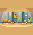 locker changing room for sports gym vector image