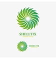 logo design element Abstract sink shell vector image