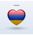 Love Armenia symbol Heart flag icon vector image