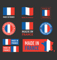 made in france icon set french product labels vector image vector image