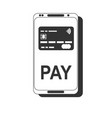 Mobile payment nfc smart phone concept flat icon