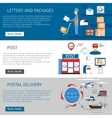 Post Banners Set vector image vector image