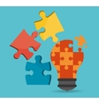 Puzzle icons design vector image vector image