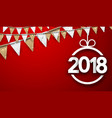red 2018 new year background vector image vector image