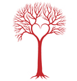 Red heart tree vector | Price: 1 Credit (USD $1)